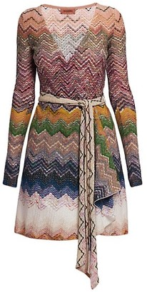 Missoni Chevron Knit Wrap Dress