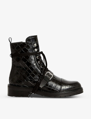 AllSaints Donita leather biker boots