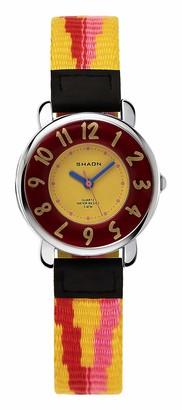 SHAON Boy's Quartz Watch with Black Dial Analogue Display Quartz Nylon 42100172