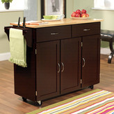 TMS Berkley Kitchen Island with Wood Top Base