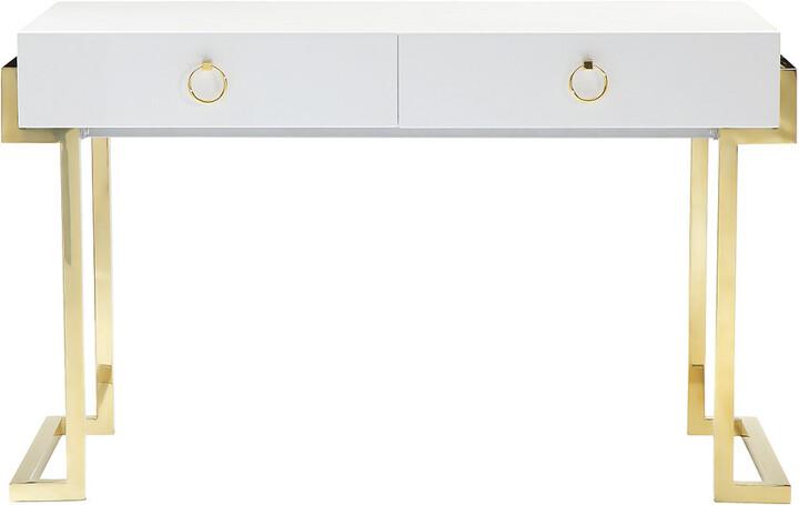 white gloss office desk shopstyle rh shopstyle com