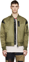 Mostly Heard Rarely Seen Green Nylon Parachute Bomber Jacket