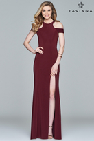 Faviana Long Dress with a Slit 8086