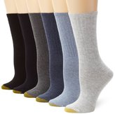 Gold Toe Women's 6-Pack Ribbed Crew Socks