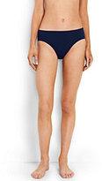 Lands' End Women's Mid Waist Bikini Bottoms-Deep Sea Medallion
