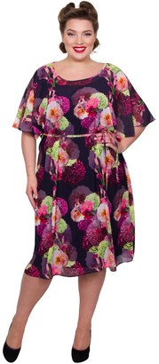 M&Co Scarlett and Jo plus floral kimono dress