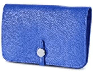 ThreeSixFive Royal Blue vegan leather travel wallet
