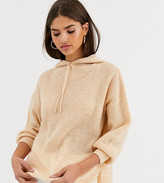 Logo Lounge By Lori Goldstein French Terry Knit Hoodie Top Boucle Detail Pink