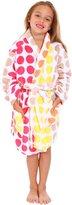 Simplicity Girl's Winter Plush Bathrobe Robe w/ Long Sleeve,PocketsMuti Dot1,L