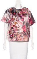 MSGM Embellished Printed Top w/ Tags