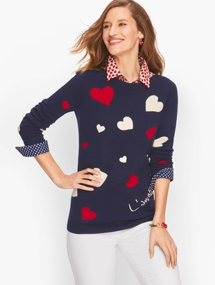 Talbots Supersoft Hearts Sweater