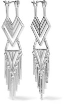 Noir Aztec Silver-Tone Earrings