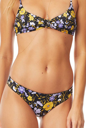 Tori Praver Isla Roosevelt Floral Bikini Bottom Black Multi M