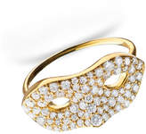 Monica Rich Kosann 18K Yellow Gold Mask Ring, Size 6