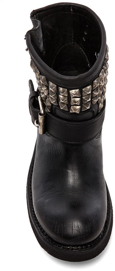 Ash Tramp Moto Boot