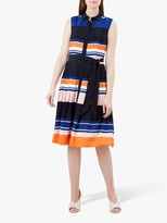Hobbs Ethel Shirt Dress, Mango/Multi
