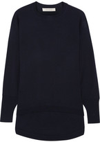 Cédric Charlier Wool And Cashmere-blend Sweater - Midnight blue