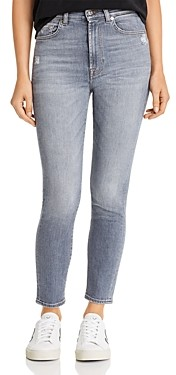 7 For All Mankind High Waisted Ankle Skinny Jeans in Luxe Vintage Drifted
