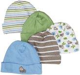 Gerber 5 Pack Caps (Baby) - Blue-0-6 Months