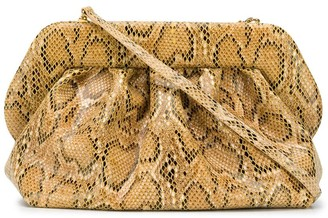 Themoire Bios snakeskin-effect clutch