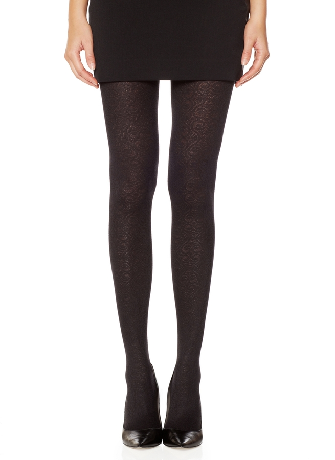 The Limited Scroll Pattern Tights