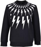 Neil Barrett Lightning Bolt Print Sweatshirt