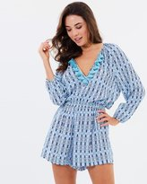Seafolly Textured Mini Print Playsuit