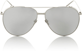 Linda Farrow Silver Frame Polarized Aviator Sunglasses
