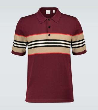 Burberry Foxford Icon striped polo shirt