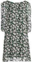 Claudie Pierlot Rififi Fleurs Floral-Print Crepe De Chine Mini Dress