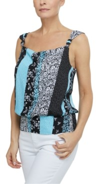 Laundry by Shelli Segal Printed Knotted-Strap Top
