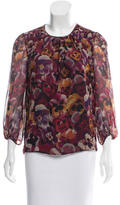 Giambattista Valli Silk Printed Blouse