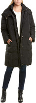 Cole Haan Plus Smocked Down Coat
