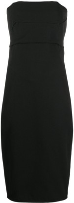 Rick Owens Strapless Midi Dress
