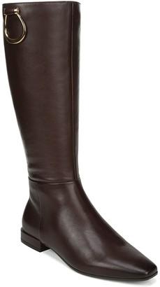 Naturalizer Wide Calf High-Shaft Block Heel Boots - Carella