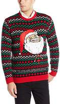Blizzard Bay Men's Forever Alone Santa Ugly Christmas Sweater