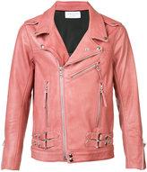 John Elliott - straps detail biker jacket - men - Leather/Polyester/Viscose - XL