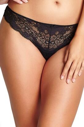 Panache Women's Plus Size Clara Lace Thong