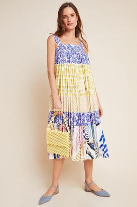 Charleston Pleated Midi Dress By Geisha Designs in Assorted Size M
