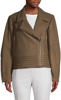 Derek Lam Wool & Cashmere Oversized Moto Jacket