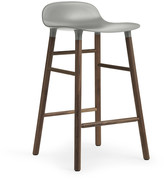Normann Copenhagen Form Barstool - Walnut - Grey