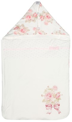 MonnaLisa Floral cotton bunting bag
