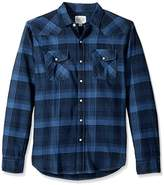 True Grit Men's Vintage Check Long Sleeve Two Pocket Shirt
