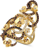 LeVian Le Vian Chocolatier® with Chocolate Quartz® and White Diamonds Ring (1-1/6 ct. t.w.) in 14k Gold