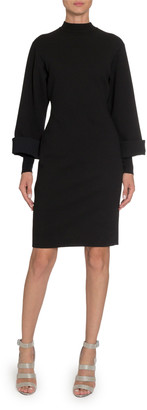 Alaia Long-Sleeve Mock-Neck Bodycon Dress