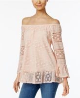 Style&Co. Style & Co Off-The-Shoulder Lace Top, Only at Macy's