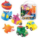 Elegant Baby Six-Piece City Party Squirties Bath Toys