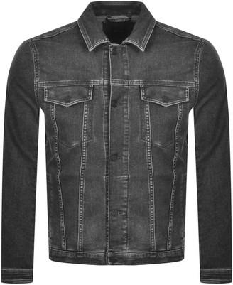 BOSS Casual Livingston Denim Jacket Grey