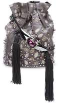 Khirma Eliazov Khirma x Swarovski embroidered bucket crossbody bag
