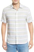 Tommy Bahama Staysail Breezer Modern Fit Short Sleeve Linen Sport Shirt